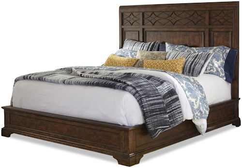 Trisha Yearwood Home Collection by Klaussner Trisha Yearwood Home Complete Queen Panel Bed with Decorative Headboard