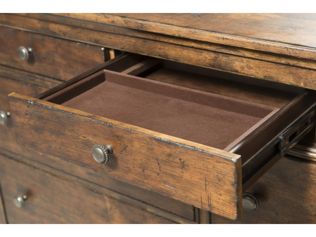 Removable Felt Jewelry Tray in Dresser Drawer