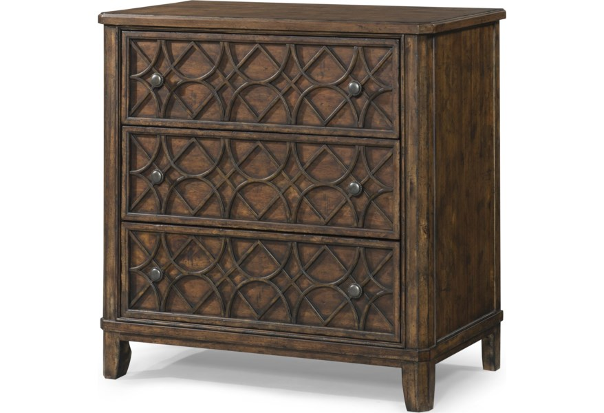 Trisha Yearwood Home Collection By Klaussner Trisha Yearwood Home Klu 920 675 Gwendolyn 3 Drawer Accent Chest Hudson S Furniture Accent Chests
