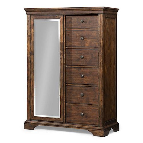 Trisha Yearwood Home Trisha Yearwood Home Tulsa Sliding Door Chest with Mirror