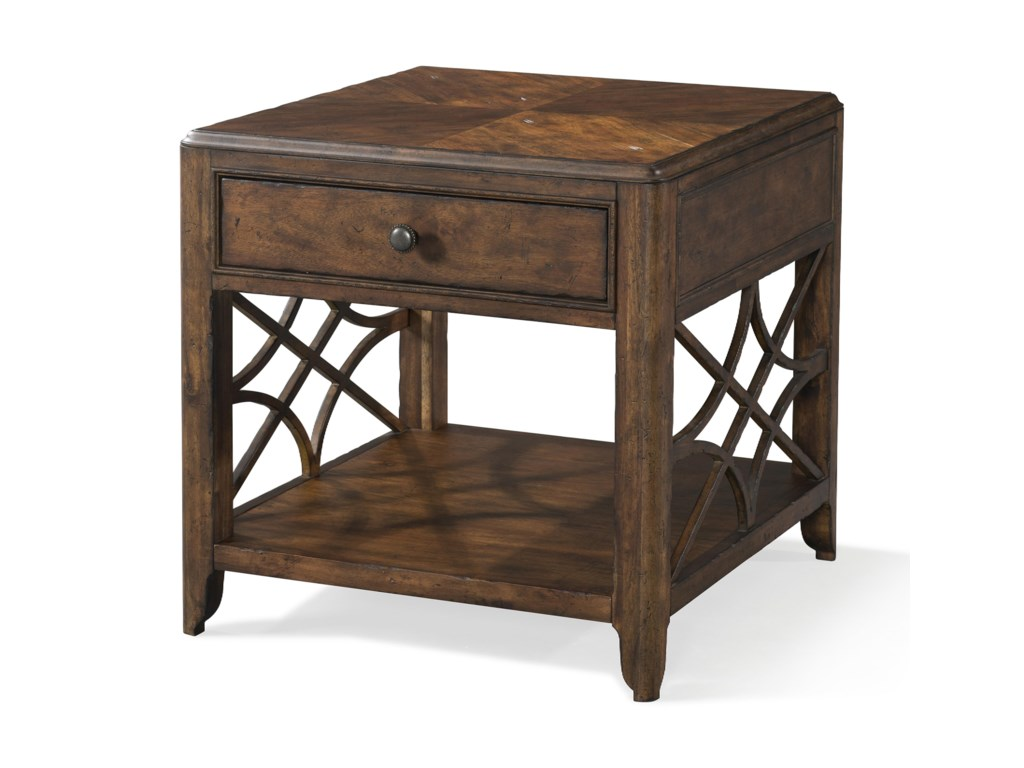 Trisha Yearwood Home Collection By Klaussner Homegeorgia Rain One Drawer End Table
