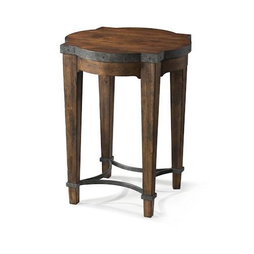 Trisha Yearwood Home Trisha Yearwood Home Ginko Chairside Table with Metal Details