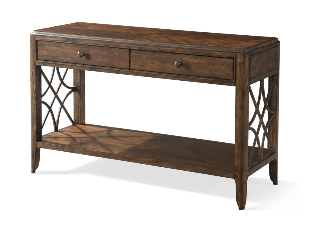 Trisha Yearwood Home Collection by Klaussner Trisha Yearwood HomeGeorgia Rain Drawer Sofa Table