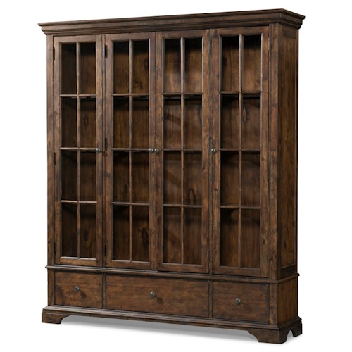 Trisha Yearwood Home Trisha Yearwood Home Monticello Curio Cabinet with Additional Drawer Storage and Paned Glass Doors