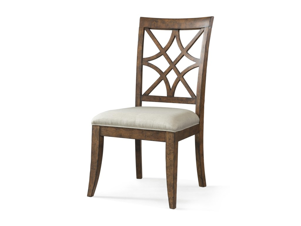 Trisha Yearwood Home Collection By Klaussner Nashville Special Order Side Chair With Lattice Back And Upholstered Seat