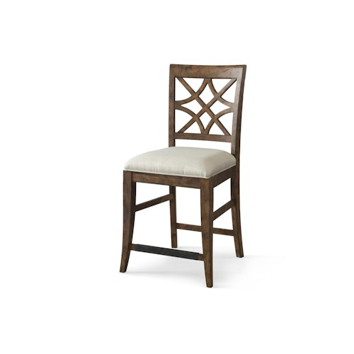 Trisha Yearwood Home Trisha Yearwood Home Nashville Counter Height Chair with Lattice Back
