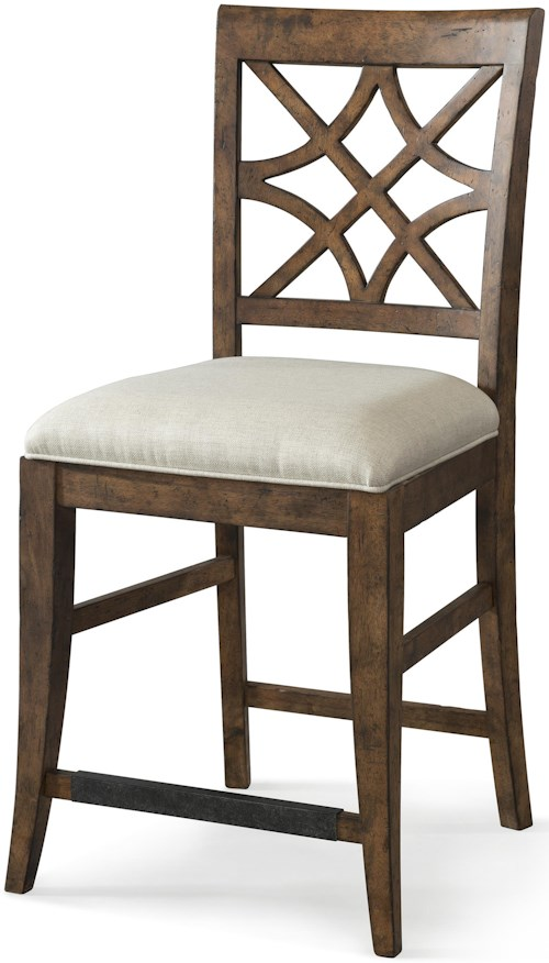 Trisha Yearwood Home Collection by Klaussner Trisha Yearwood Home Nashville Counter Height Chair with Lattice Back