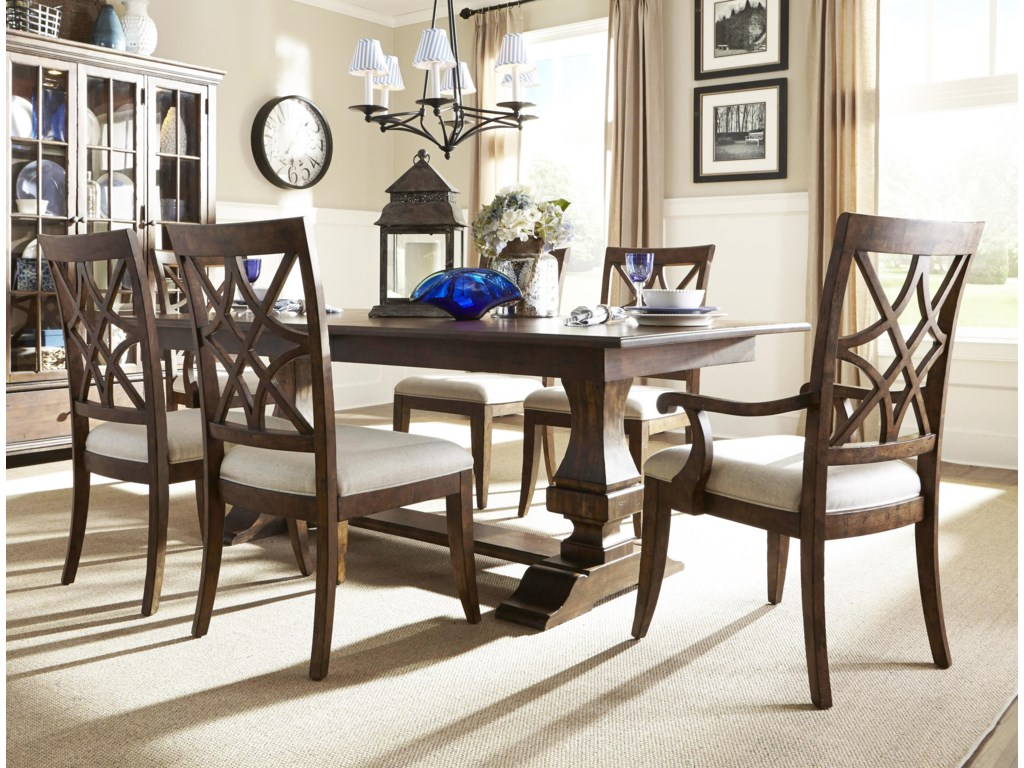 Trisha Yearwood Home Collection By Klaussner 5 Piece Dining Set