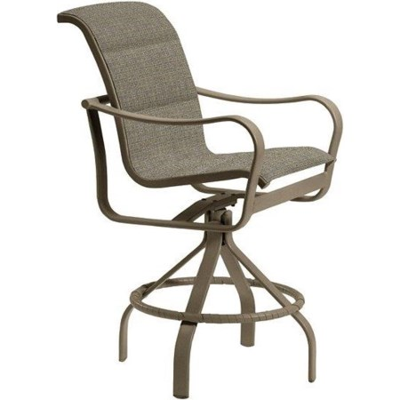 Padded Sling Swivel Counter Height Stool