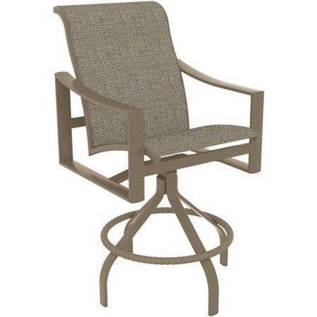 Sling Swivel Counter Height Stool