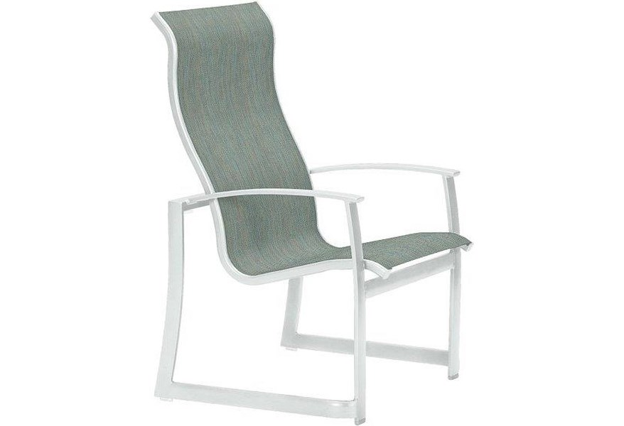Tropitone Mainsail High Back Dining Chair Johnny Janosik Outdoor Dining Arm Chairs