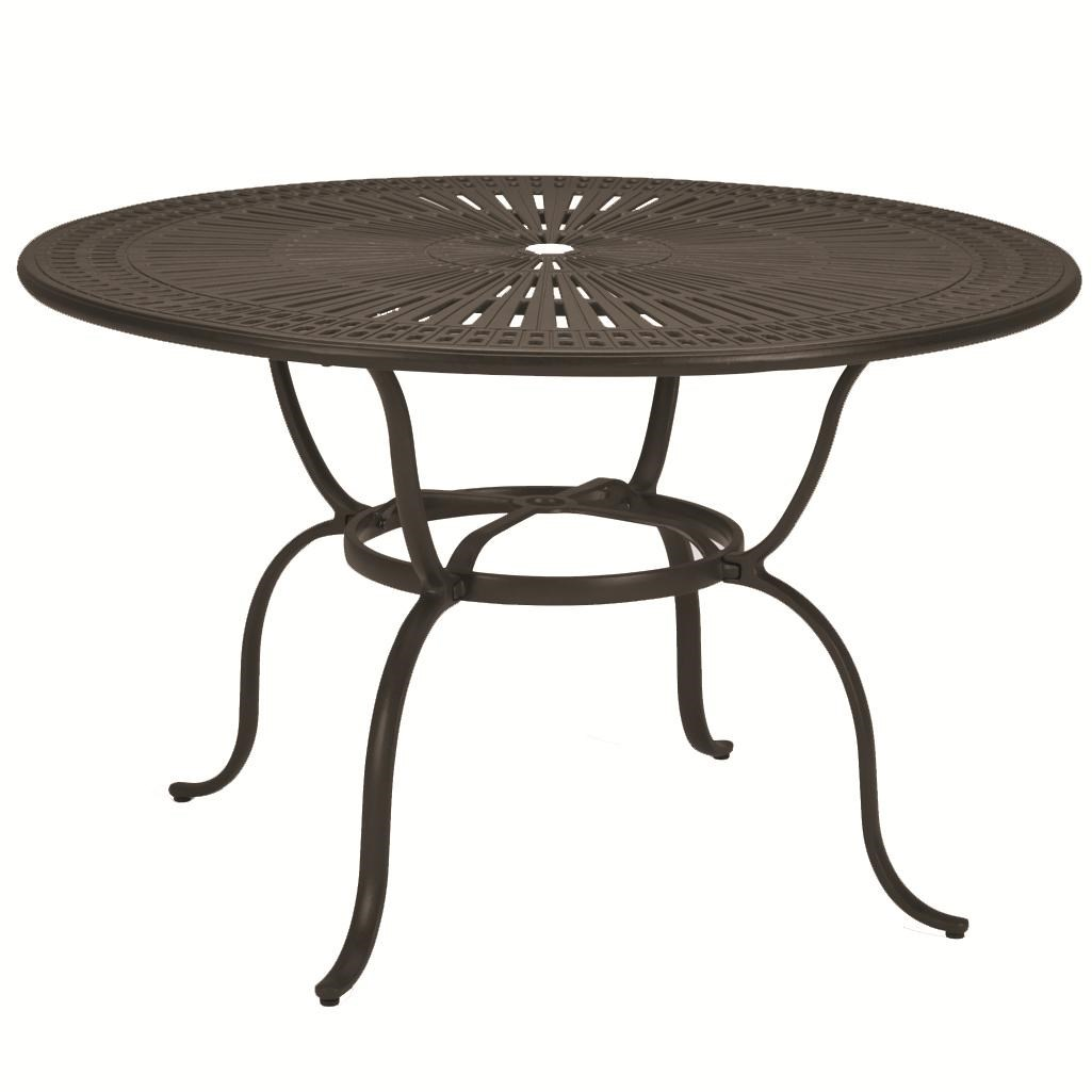 Amazing Outdoor Tables Outdoor Round Pub Height Dining Table With Umbrella Hole By  Tropitone