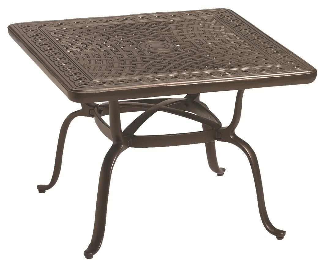 Outdoor Tables Outdoor End Table With Hand Cast Aluminum Top By Tropitone