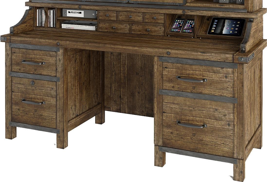 Turnkey Products Artisan Revival Smart Top Credenza With Power Well