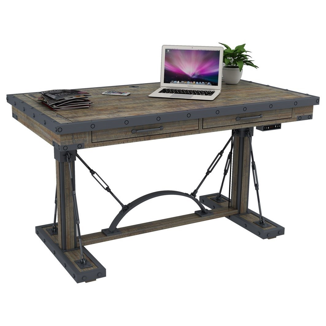 Turnkey Products Artisan Revival Industrial Style Situ0027 N Stand Adjustable  Height Desk