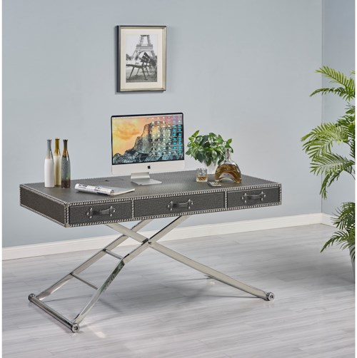 Turnkey Products Melrose Sit N' Stand Adjustable Height Desk with Motorized Base