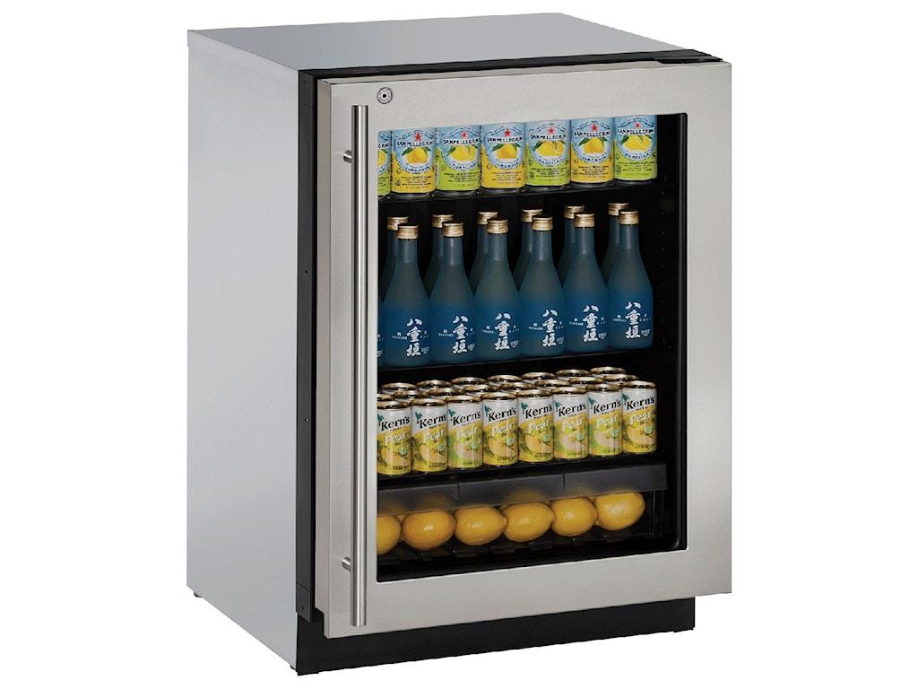U Line Refrigerators24 Left Hand Hinge Gl Door Refrigerator