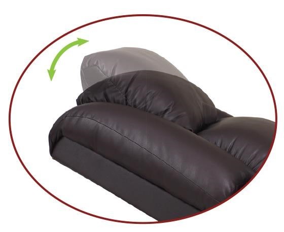 Representation of Power Headrest That Moves Forward and Back