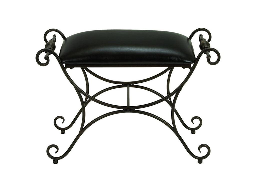 UMA Enterprises, Inc. Accent FurnitureMetal/Faux Leather Stool