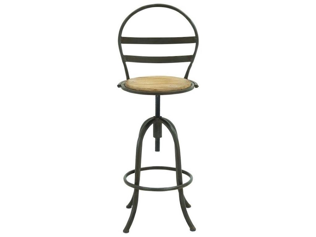 UMA Enterprises, Inc. Accent FurnitureMetal/Wood Bar Chair