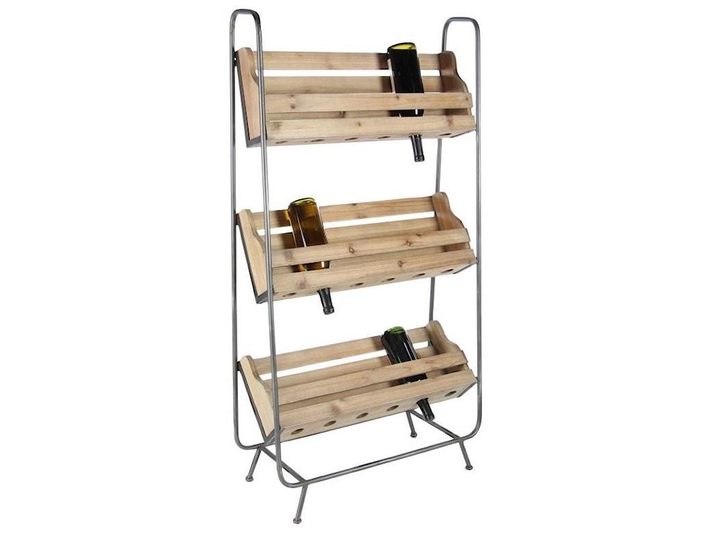 UMA Enterprises, Inc. Accent FurnitureWood/Metal Wine Rack
