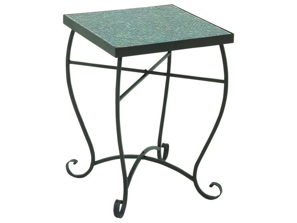 UMA Enterprises, Inc. Accent FurnitureMetal/Turquoise Mosaic Accent Table