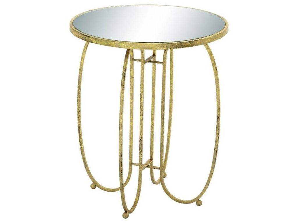 UMA Enterprises, Inc. Accent FurnitureMetal Mirror Accent Table