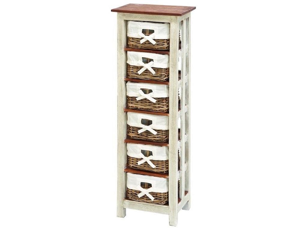 UMA Enterprises, Inc. Accent FurnitureWood Rattan Chest 50