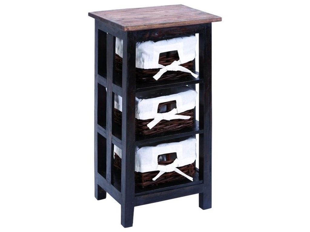 UMA Enterprises, Inc. Accent FurnitureWood Rattan Side Table