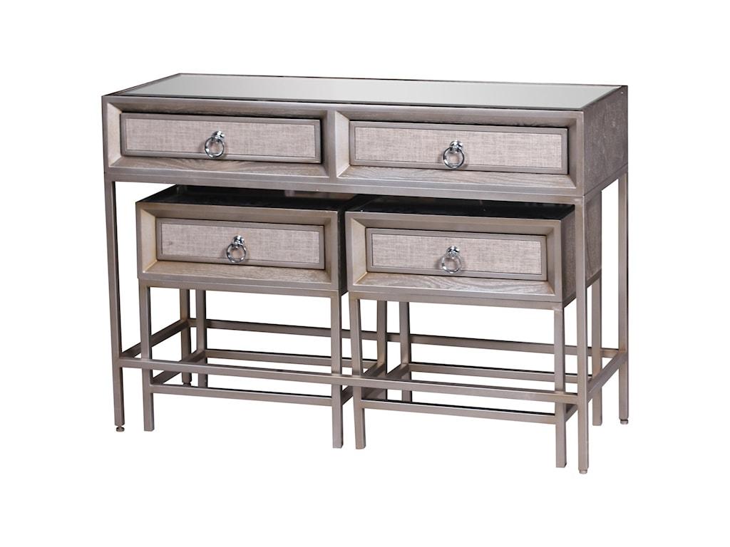 UMA Enterprises, Inc. Accent FurnitureMetal/Wood Mirror Consoles, Set of 3