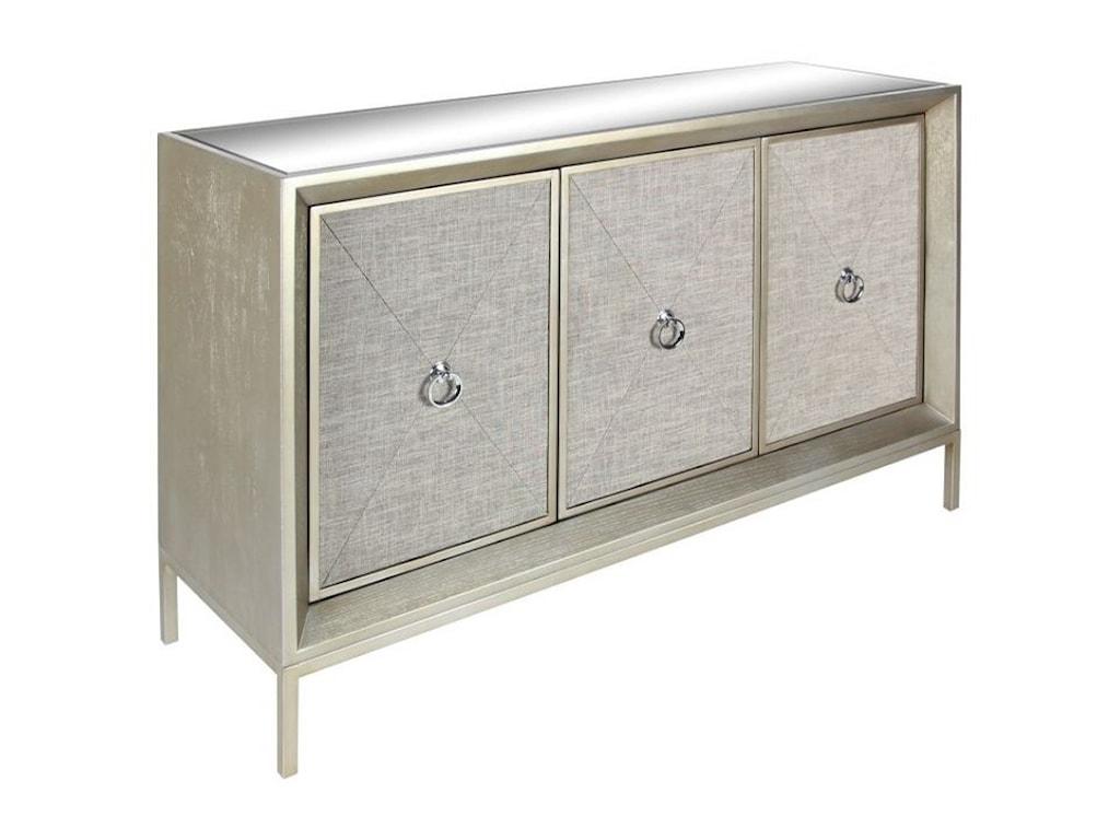 UMA Enterprises, Inc. Accent FurnitureWood/Mirror/Fabric Cabinet