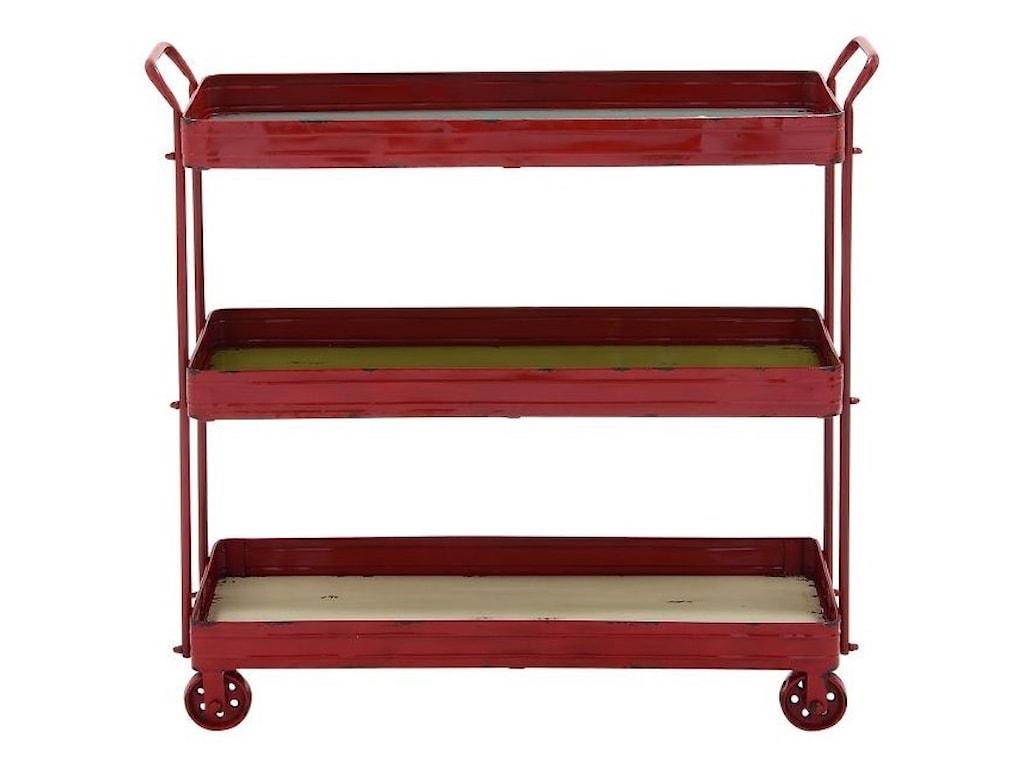 UMA Enterprises, Inc. Accent FurnitureMetal/Wood 3 Tier Cart