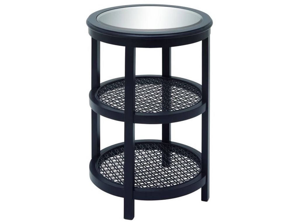 UMA Enterprises, Inc. Accent FurnitureWood/Mirror Metal Black Accent Table