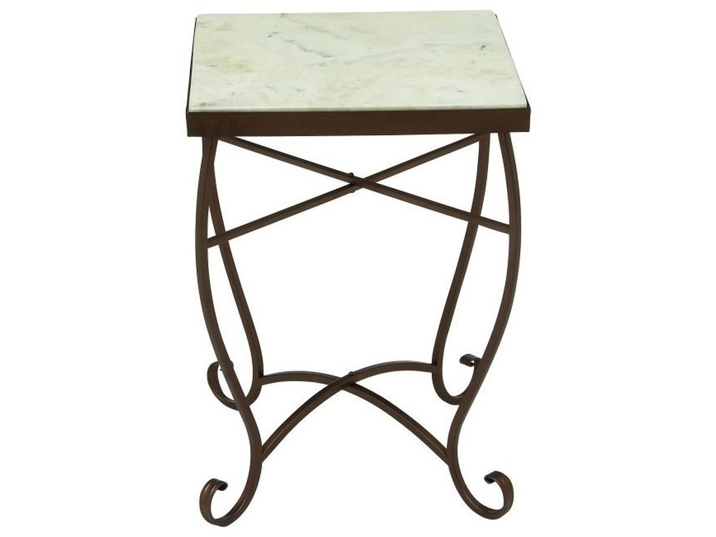 UMA Enterprises, Inc. Accent FurnitureMetal/Marble Square Accent Table