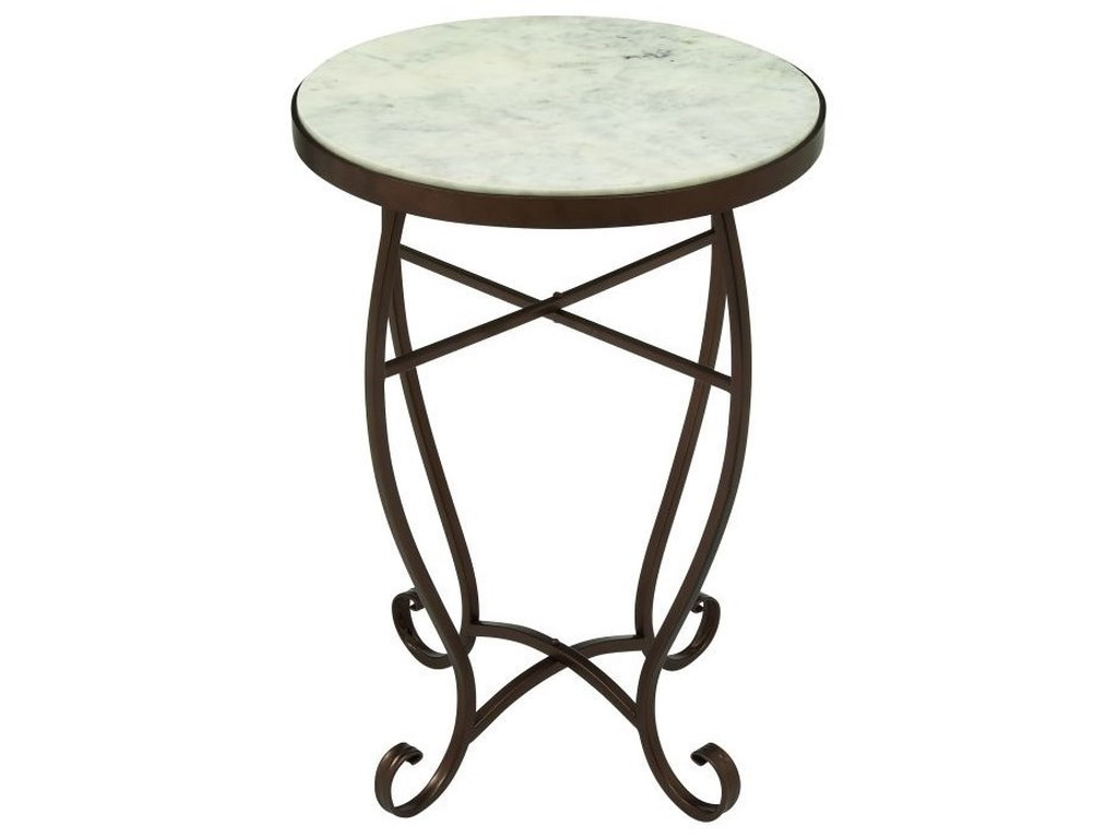 UMA Enterprises, Inc. Accent FurnitureMetal/Marble Round Accent Table