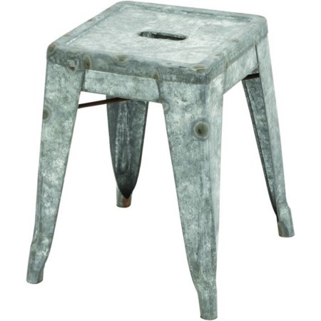 Metal Galvanized Stool
