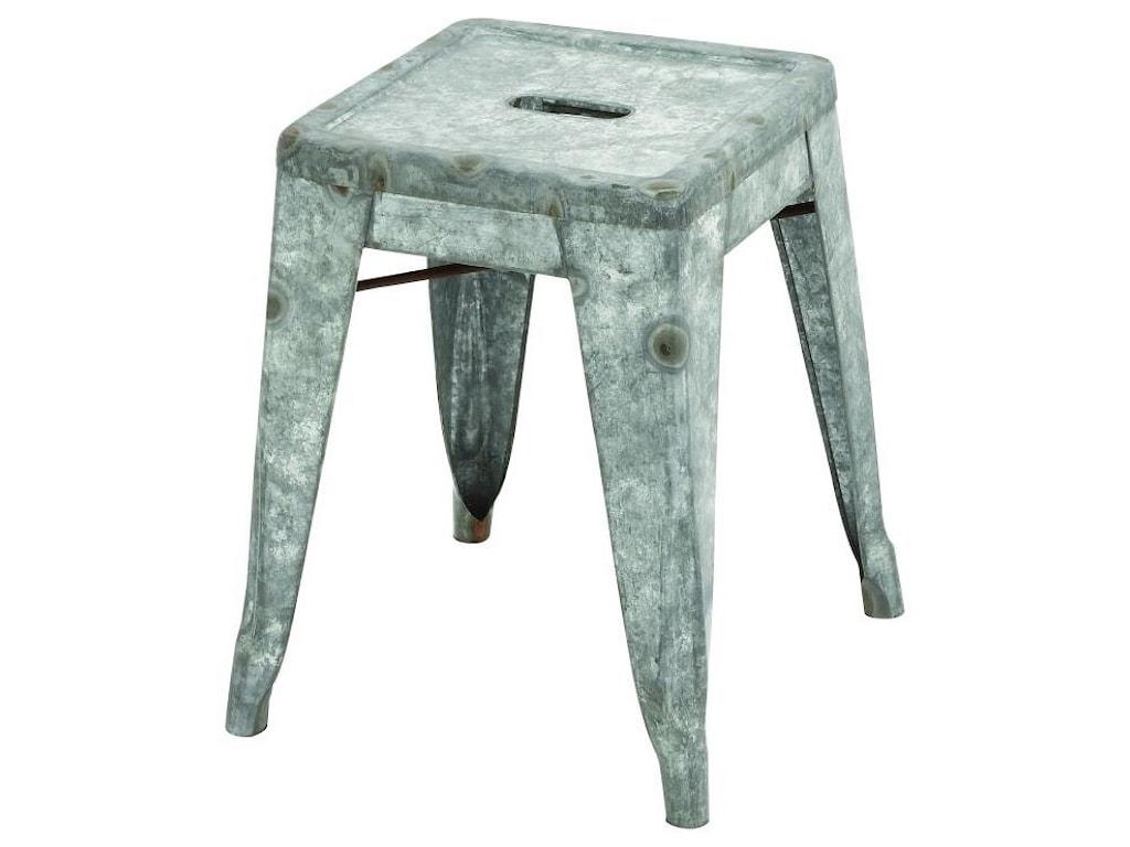 UMA Enterprises, Inc. Accent FurnitureMetal Galvanized Stool