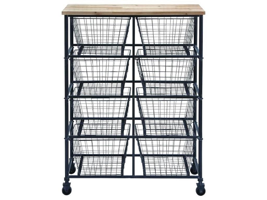 UMA Enterprises, Inc. Accent FurnitureMetal/Wood Storage Cart