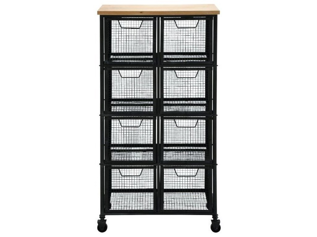 UMA Enterprises, Inc. Accent FurnitureMetal/Wood Tall Storage Cart