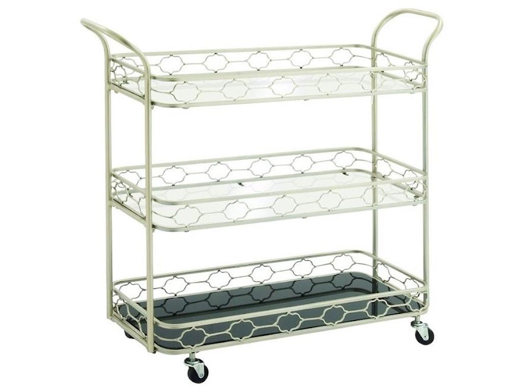 UMA Enterprises, Inc. Accent FurnitureMetal/Mirror 3 Tier Bar Cart