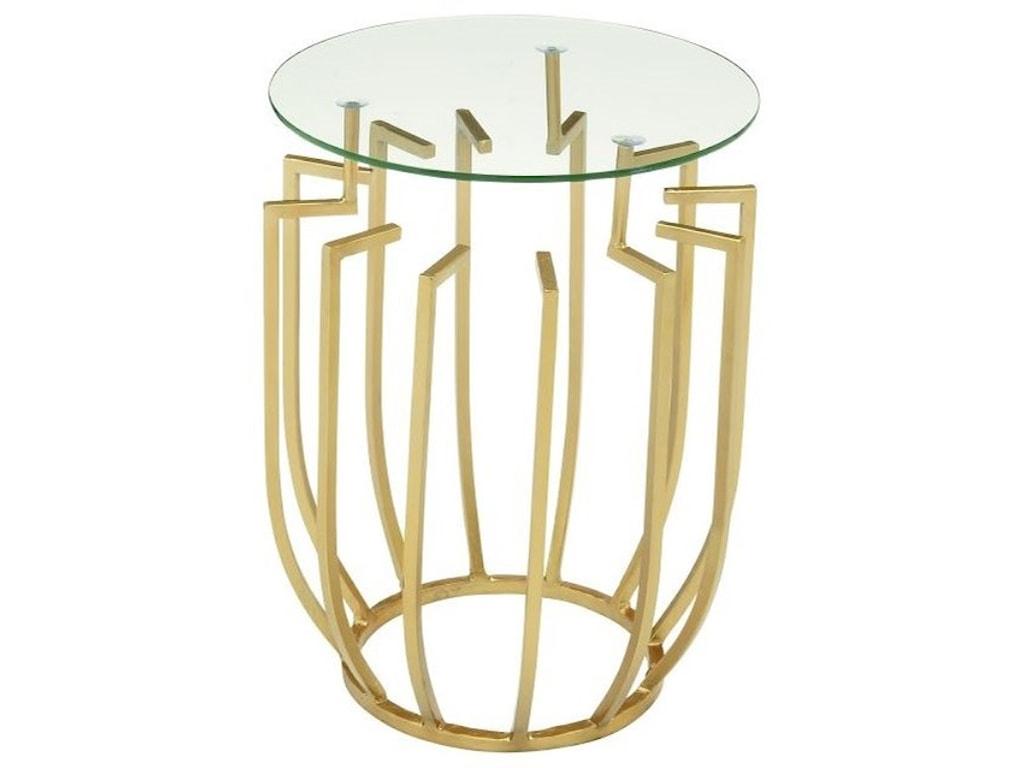 UMA Enterprises, Inc. Accent FurnitureMetal/Glass Accent Table