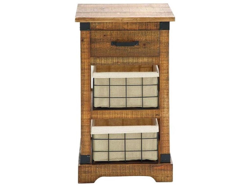 UMA Enterprises, Inc. Accent FurnitureWood Metal Basket Side Table