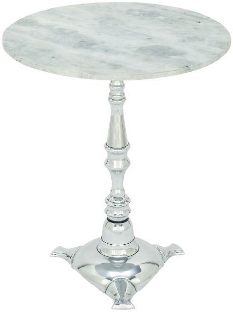 UMA Enterprises, Inc. Accent Furniture Aluminum Marble Accent Table