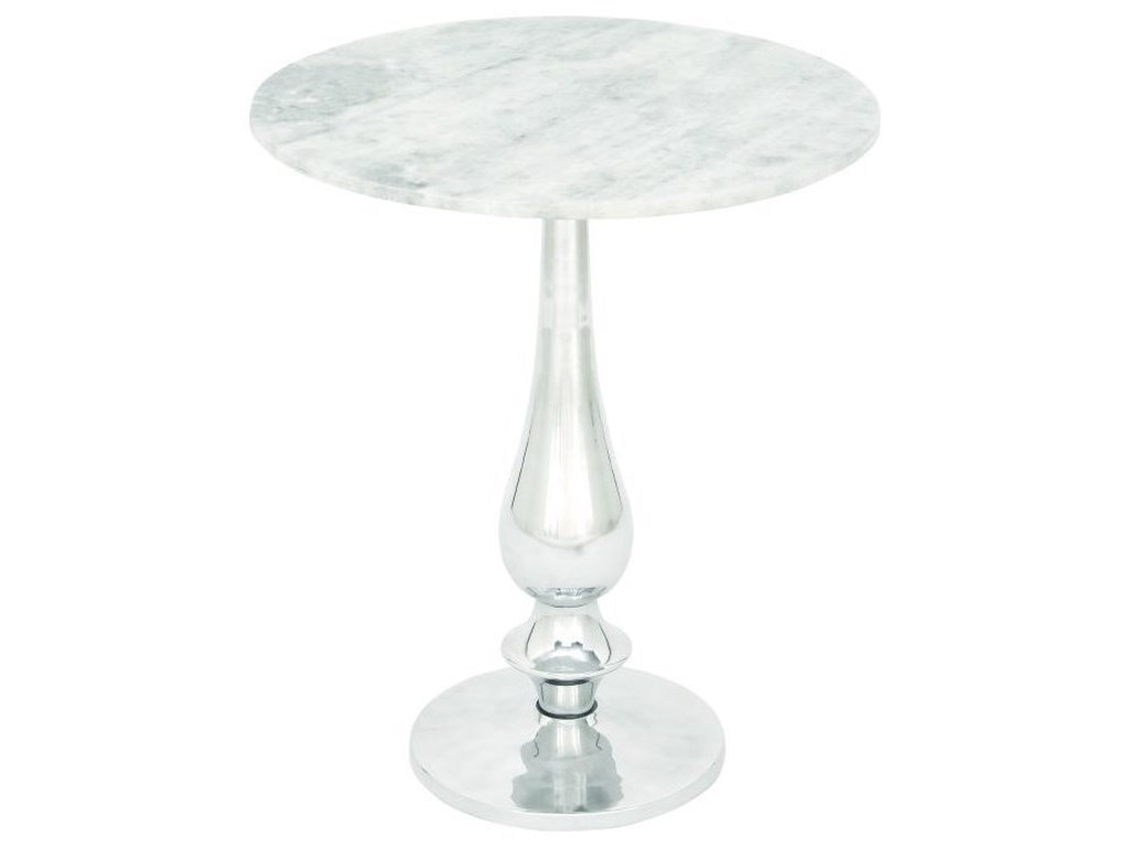 UMA Enterprises, Inc. Accent FurnitureAluminum Marble Accent Table