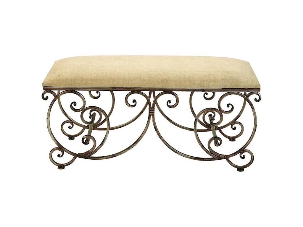 UMA Enterprises, Inc. Accent FurnitureMetal Fabric Bench