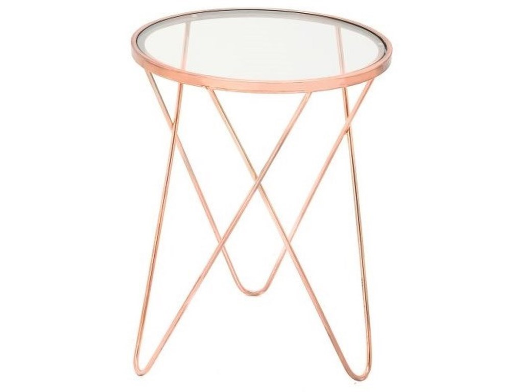 UMA Enterprises, Inc. Accent FurnitureMetal/Glass Copper Accent Table