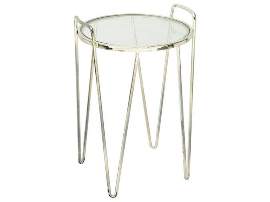 UMA Enterprises, Inc. Accent FurnitureMetal/Glass Silver Accent Table