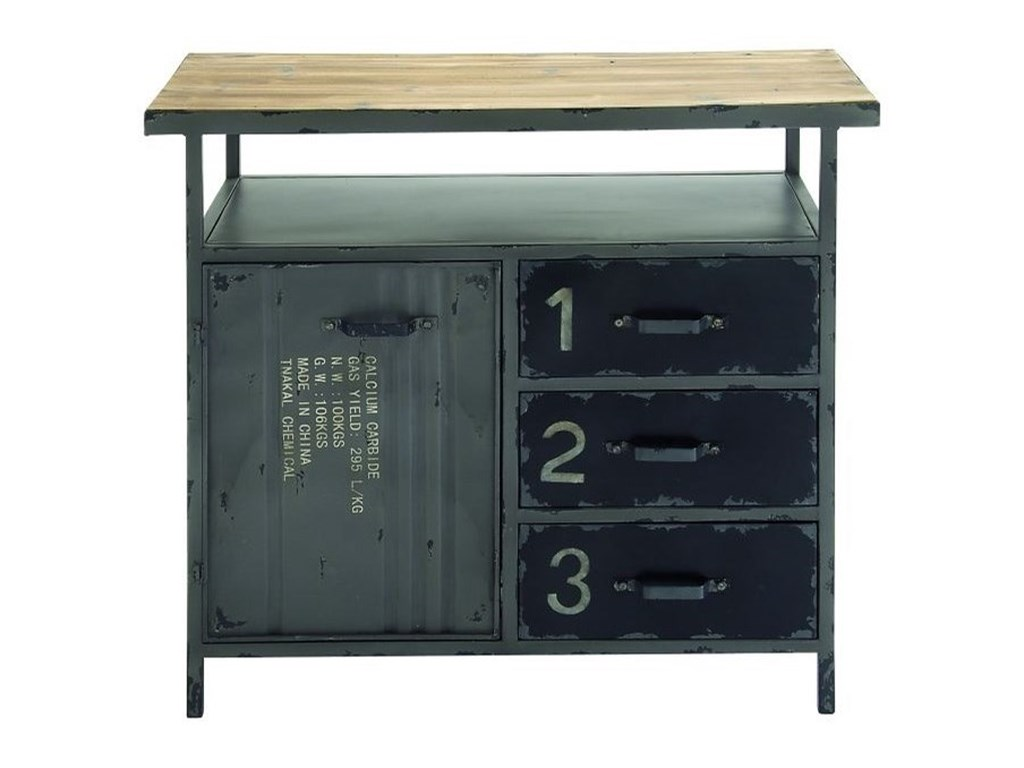 UMA Enterprises, Inc. Accent FurnitureMetal/Wood Utility Cabinet