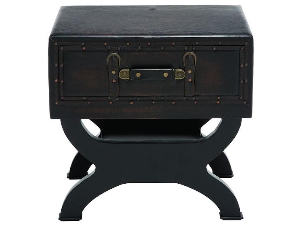 UMA Enterprises, Inc. Accent FurnitureFaux Leather End Table