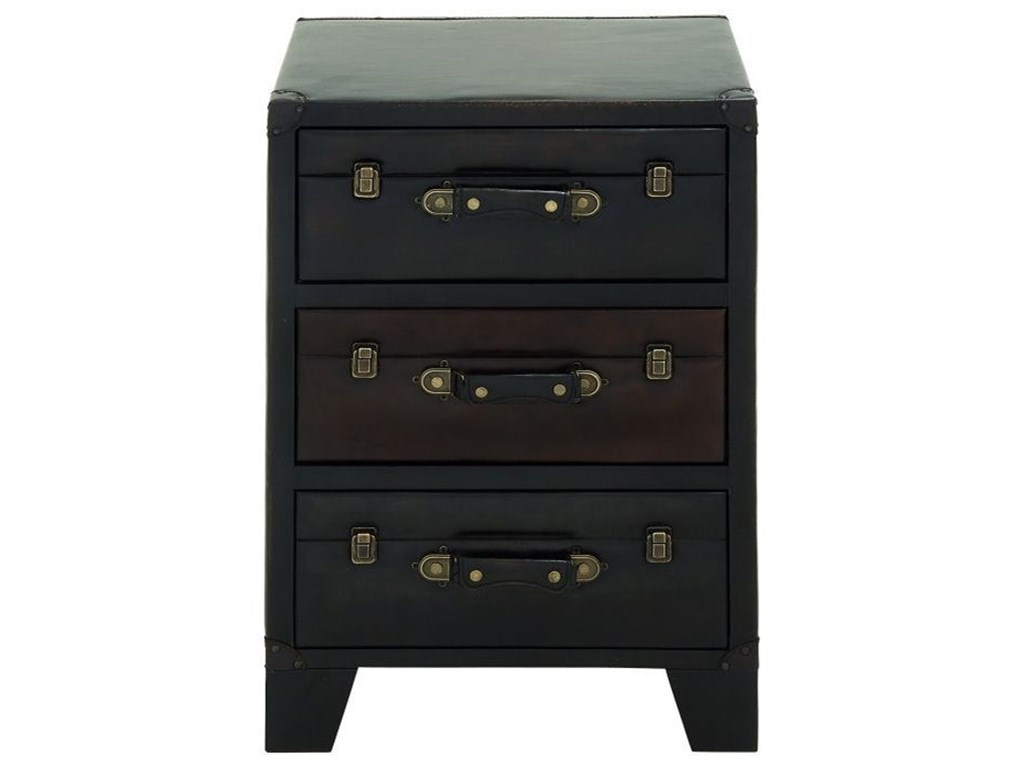 UMA Enterprises, Inc. Accent FurnitureWood/Faux Leather Side Cabinet